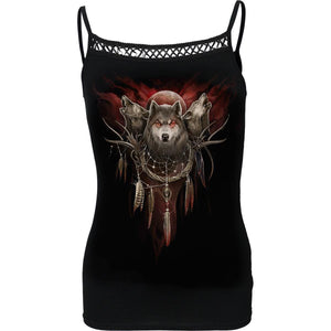 CRY OF THE WOLF - Cross Trim Camisole - Spiral USA