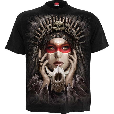 Image of CRY OF THE WOLF - T-Shirt Black - Spiral USA