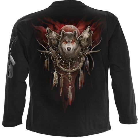 CRY OF THE WOLF - Longsleeve T-Shirt Black - Spiral USA