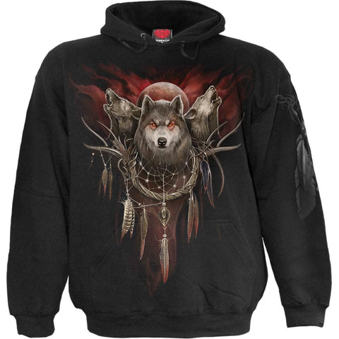 Image of CRY OF THE WOLF - Hoody Black - Spiral USA
