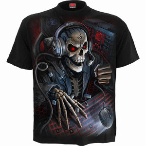 PC GAMER - Kids T-Shirt Black - Spiral USA