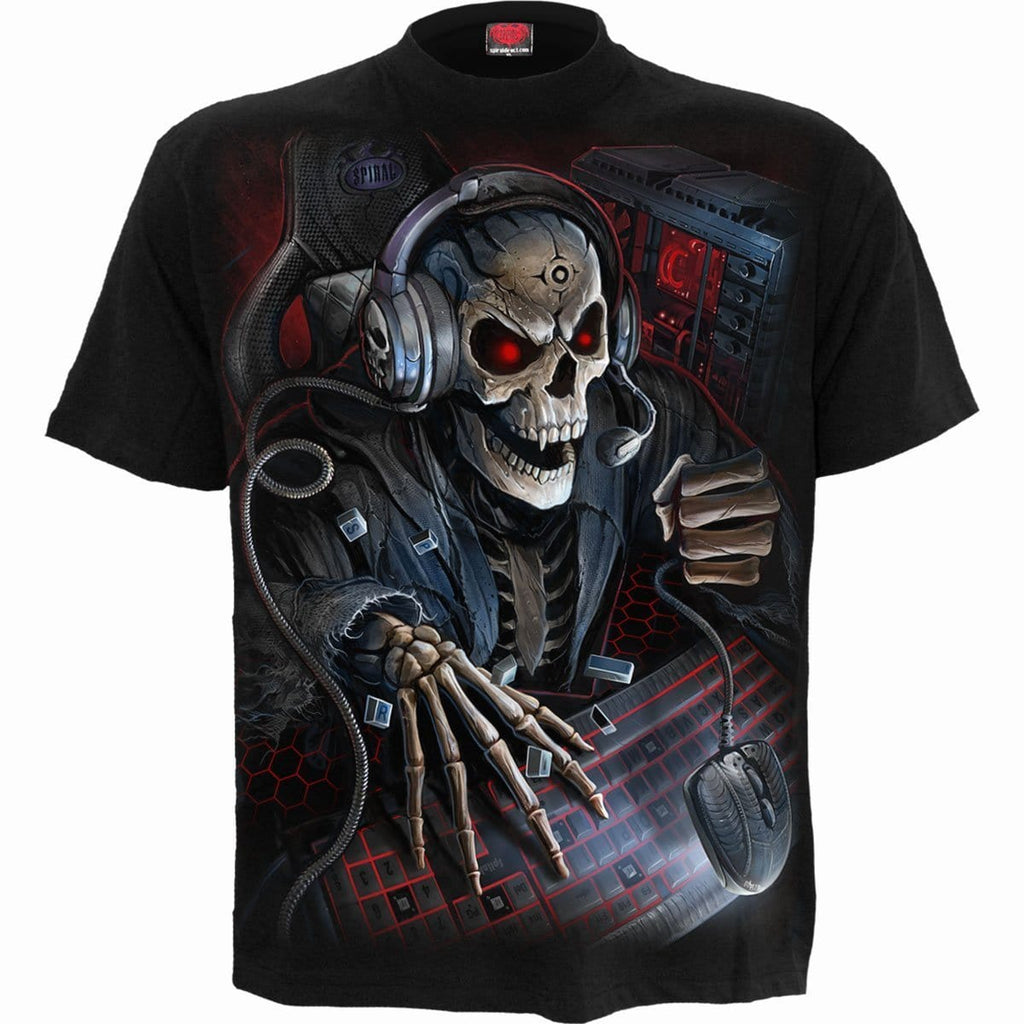 PC GAMER - T-Shirt Black - Spiral USA