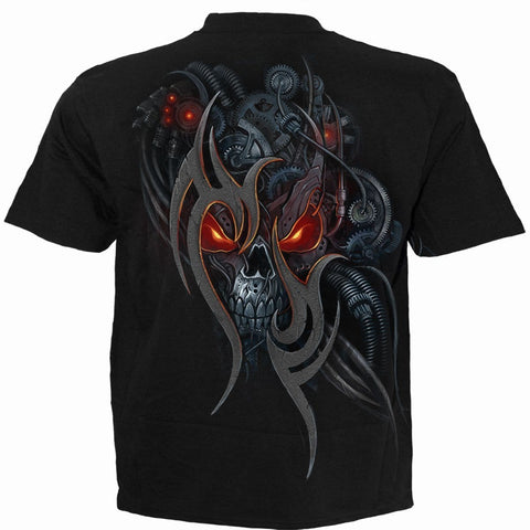 Image of STEAMPUNK SKULL - T-Shirt Black - Spiral USA