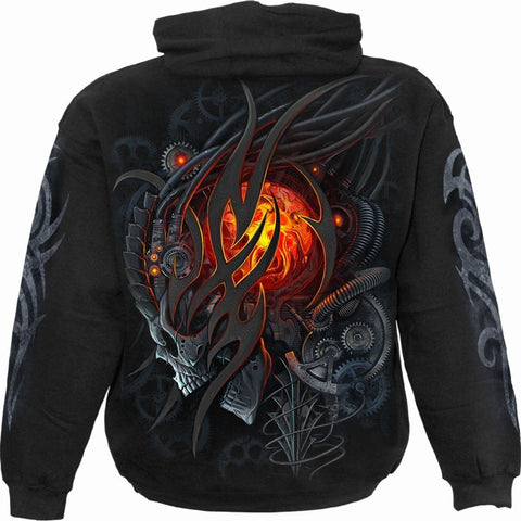 Image of STEAMPUNK SKULL - Hoody Black - Spiral USA