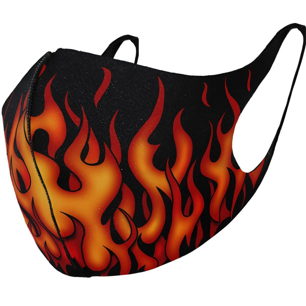 TRIBAL FLAMES - Face Mask - Spiral USA
