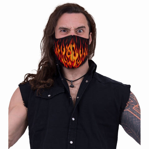 Image of TRIBAL FLAMES - Face Mask - Spiral USA