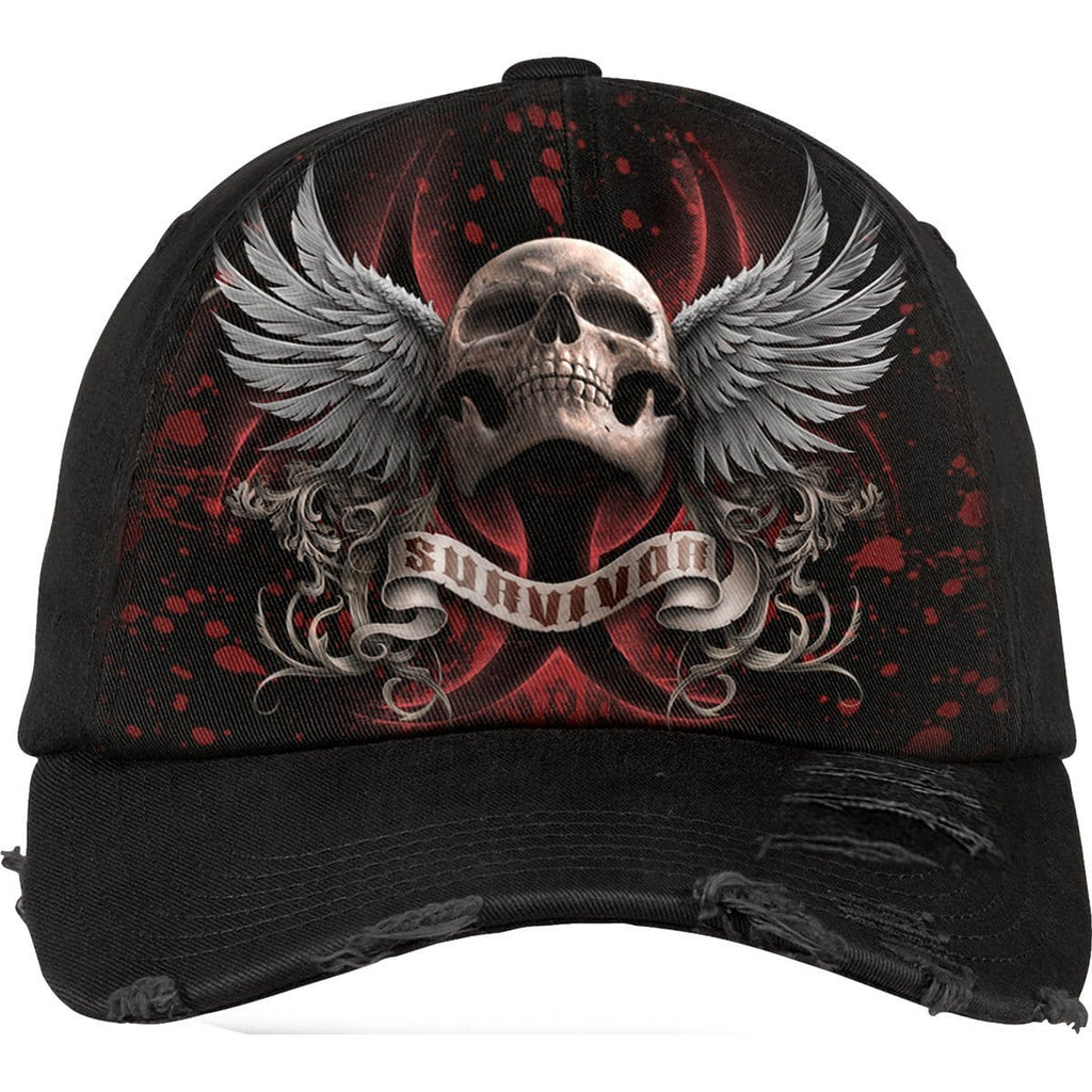 LOCKDOWN 2020 - Baseball Caps Ditressed with Metal Clasp - Spiral USA