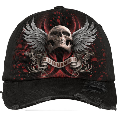 Image of LOCKDOWN 2020 - Baseball Caps Ditressed with Metal Clasp - Spiral USA