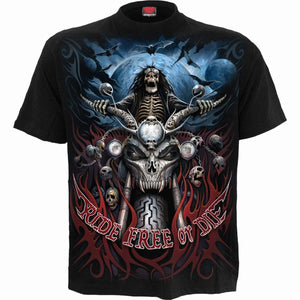 RIDE FREE - T-Shirt Black - Spiral USA
