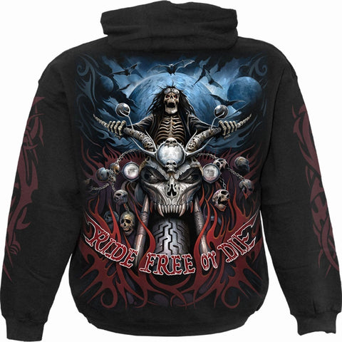 RIDE FREE - Hoody Black - Spiral USA