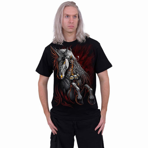 INFERNAL UNICORN - T-Shirt Black - Spiral USA