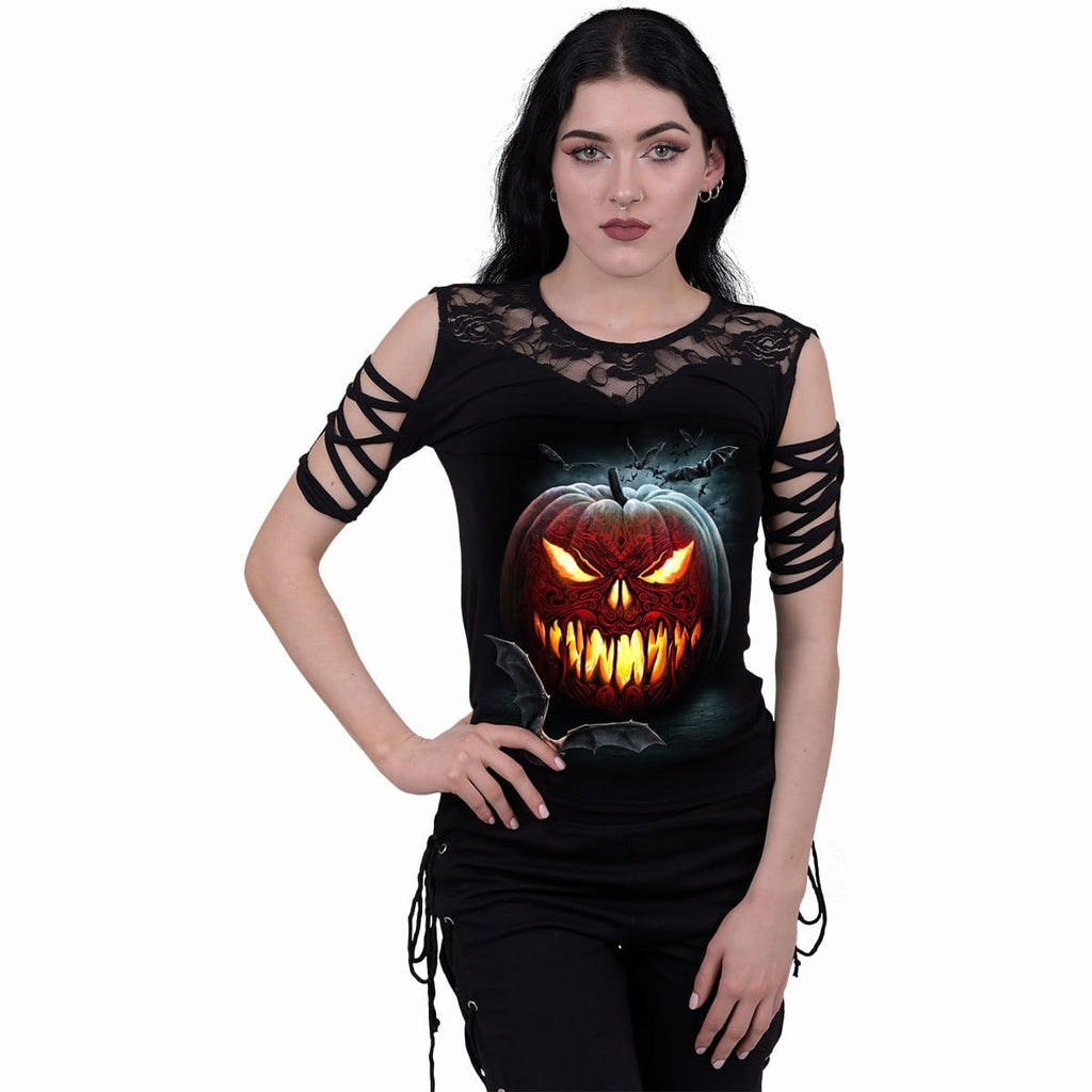 CARVING DEATH - Lace Shoulder Strap Sleeve - Spiral USA