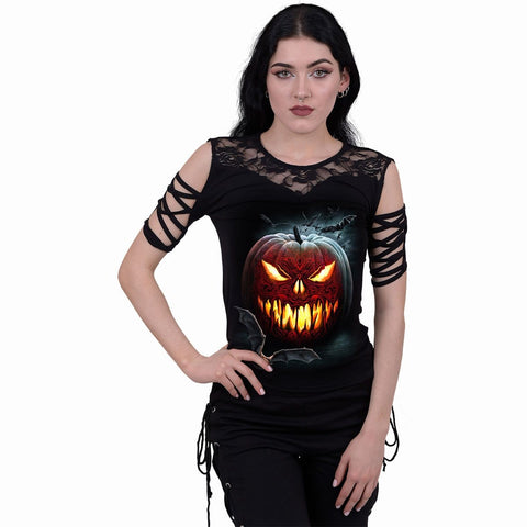 Image of CARVING DEATH - Lace Shoulder Strap Sleeve - Spiral USA