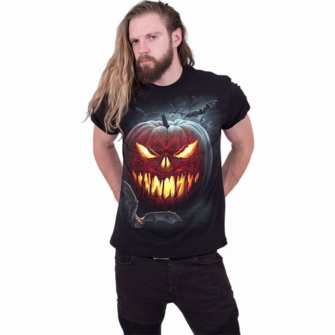 CARVING DEATH - Front Print T-Shirt Black - Spiral USA