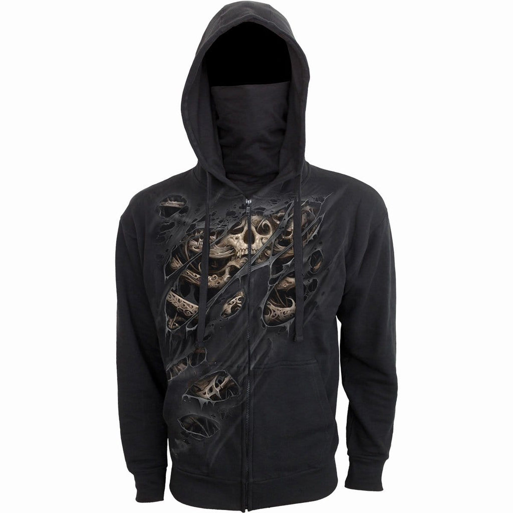 CAGE SKULLS - 2in1 Full Zip Mask Hoodie - Spiral USA
