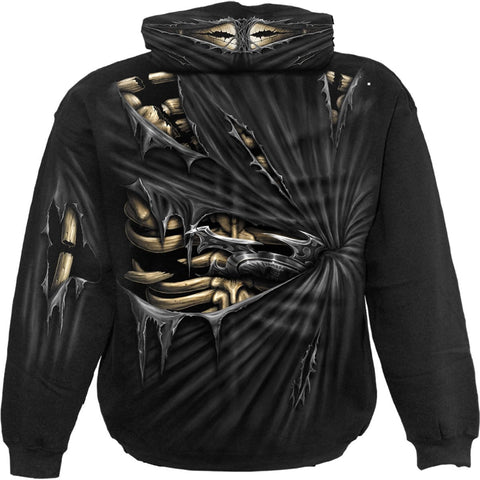 BONE SLASHER - Allover Hoody Black - Spiral USA