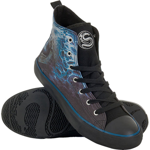 Image of FLAMING SPINE - Sneakers - Men's High Top Laceup - Spiral USA