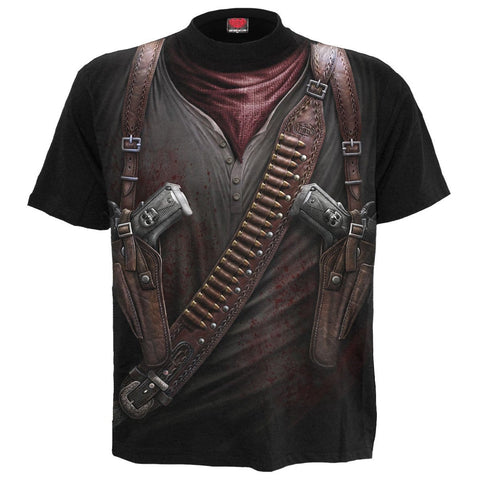 Image of HOLSTER WRAP - Allover T-Shirt Black - Spiral USA