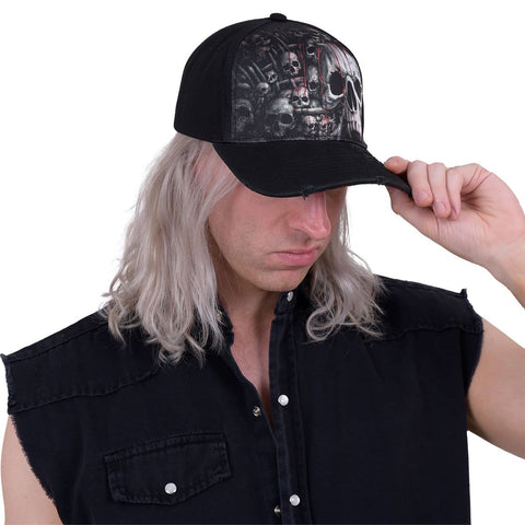 Image of DEATH RIBS - Baseball Caps Distressed with Metal Clasp - Spiral USA