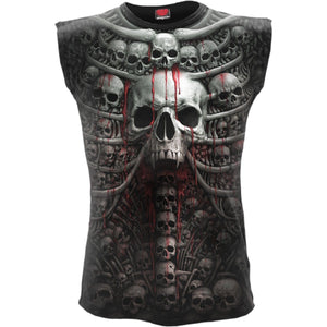 DEATH RIBS - Allover Sleeveless T-Shirt Black - Spiral USA