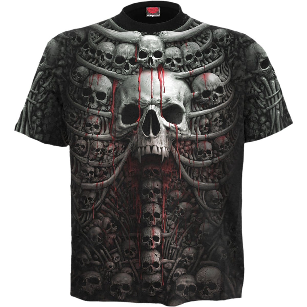 DEATH RIBS - Allover T-Shirt Black - Spiral USA
