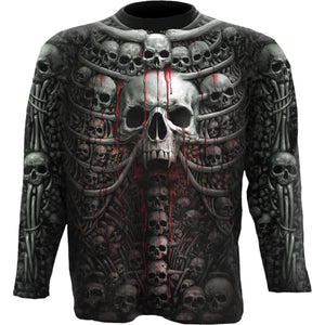 DEATH RIBS - Allover Longsleeve T-Shirt Black - Spiral USA