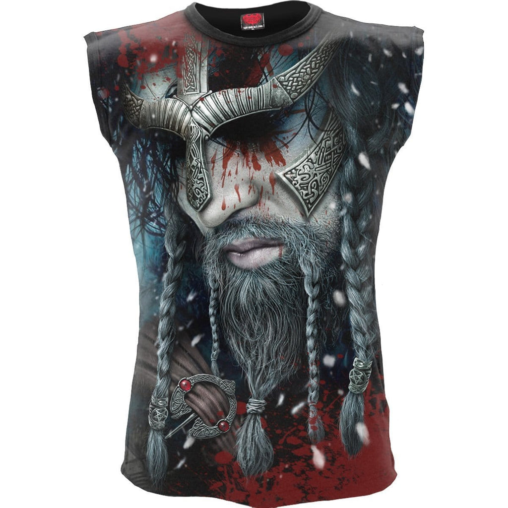 VIKING WRAP - Allover Sleeveless T-Shirt Black - Spiral USA