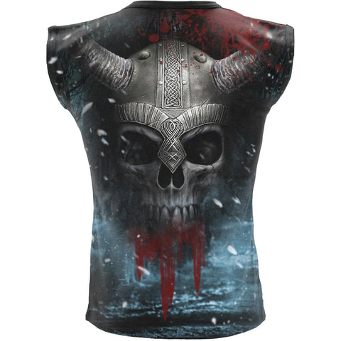 Image of VIKING WRAP - Allover Sleeveless T-Shirt Black - Spiral USA