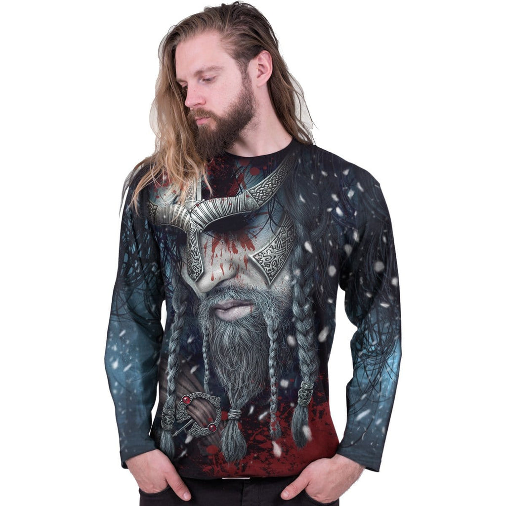 VIKING WRAP - Allover Longsleeve T-Shirt Black - Spiral USA
