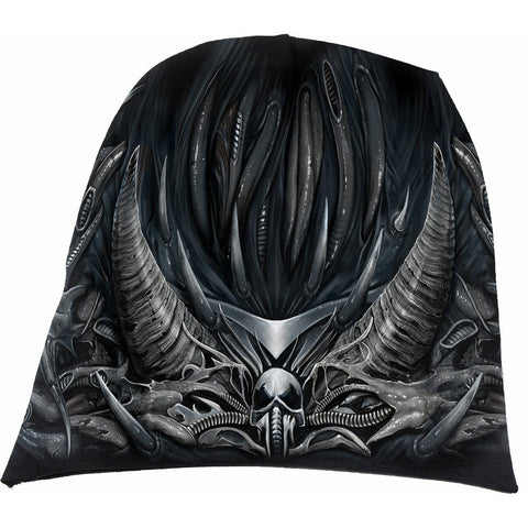 Image of SKULL ARMOUR - Light Cotton Beanies Black - Spiral USA