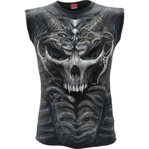 SKULL ARMOUR - Allover Sleeveless T-Shirt Black - Spiral USA