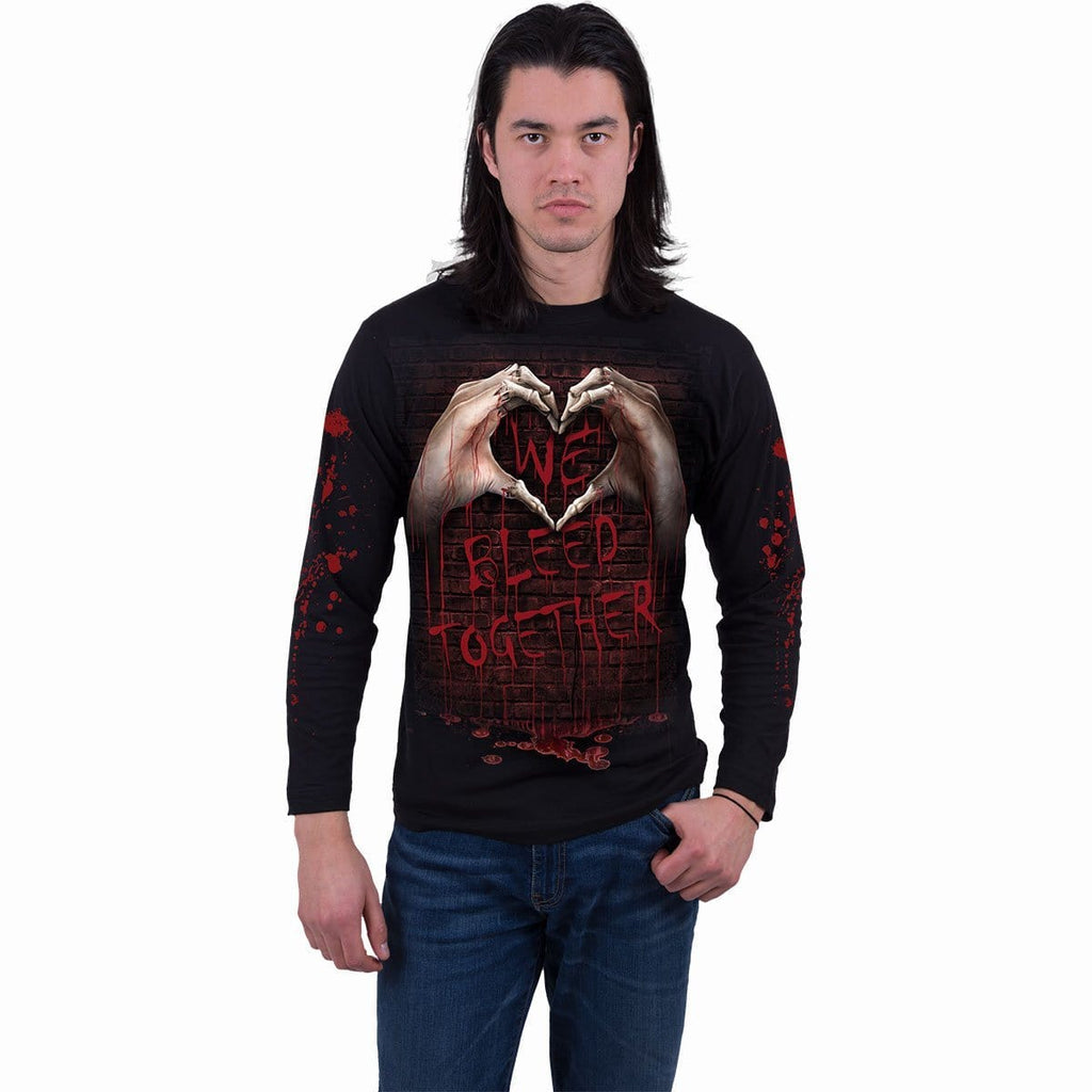WE BLEED TOGETHER - Longsleeve T-Shirt Black - Spiral USA