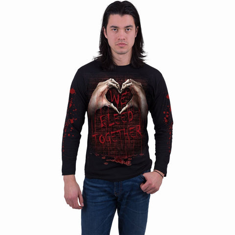 Image of WE BLEED TOGETHER - Longsleeve T-Shirt Black - Spiral USA