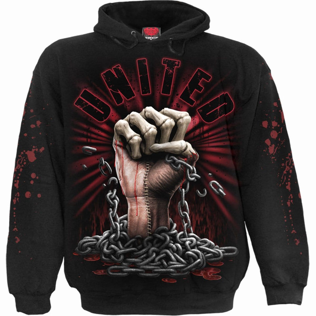 WE BLEED TOGETHER - Hoody Black - Spiral USA