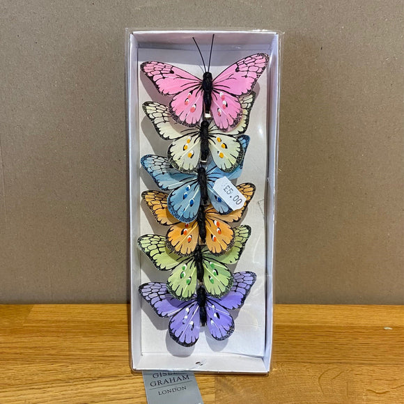 Butterfly Clip Decorations (set of 6)