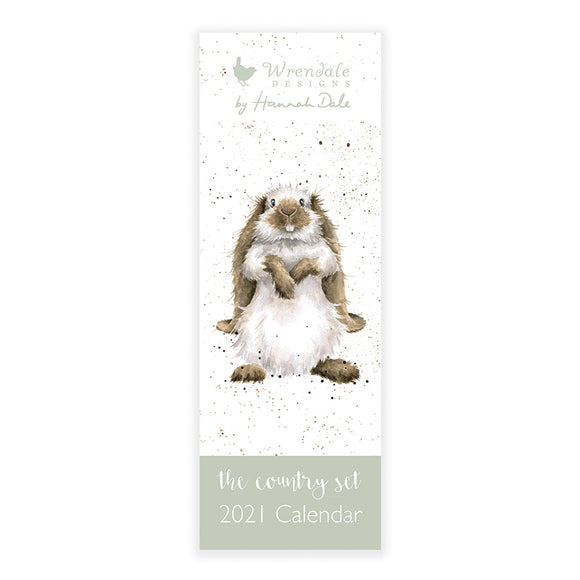 Wrendale 2021 Country Set Slimline Calendar