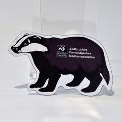 Wildlife Trust BCN Badger Shaped Magnet 1