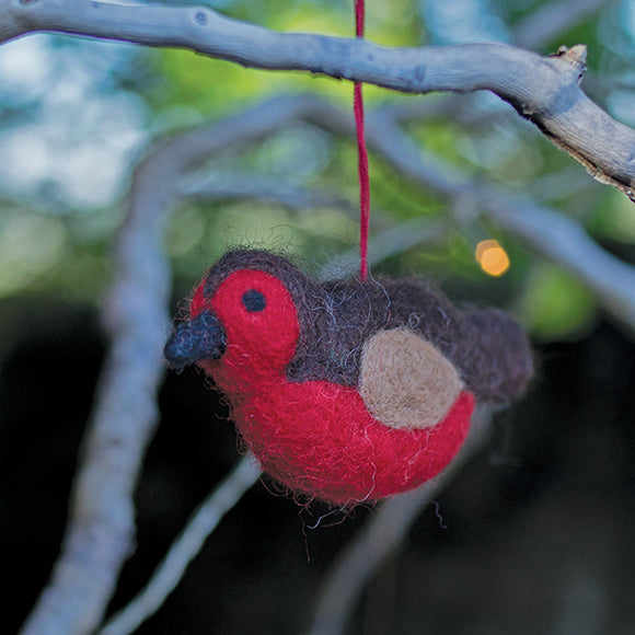 Needle Felted Robin Decoration