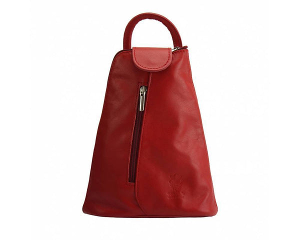 Made In Tuscany Michela Leather Backpack Backpack Made in Tuscany Light Red