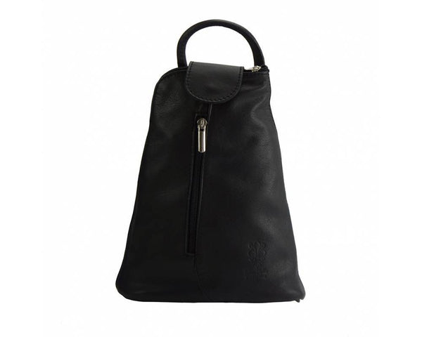 Made In Tuscany Michela Leather Backpack Backpack Made in Tuscany Black