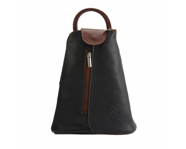 Made In Tuscany Michela Leather Backpack Backpack Made in Tuscany Dark Brown