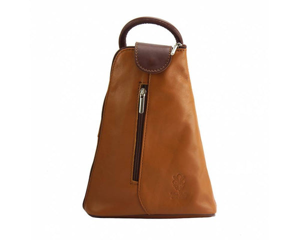 Made In Tuscany Michela Leather Backpack Backpack Made in Tuscany Tan/Brown