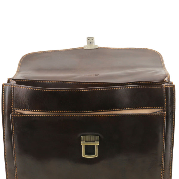 Tuscany Leather Classic 'Napoli' Leather Laptop Briefcase Laptop Briefcase Tuscany Leather
