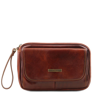 Tuscany Leather Classic Ivan Men's Leather Handy Wrist Bag