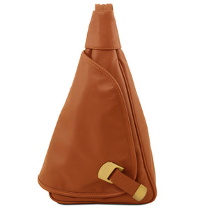 Tuscany Leather Classic Hanoi Leather Backpack Backpack Tuscany Leather Cognac