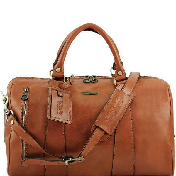 Tuscany Leather 'TL Voyager' Travel Leather Duffle Bag - Small (TL141216) Duffle Bag Tuscany Leather Honey
