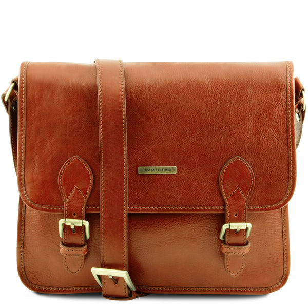 Tuscany Leather 'Postman' Leather Briefcase/Messenger Bag Laptop Briefcase Tuscany Leather Honey