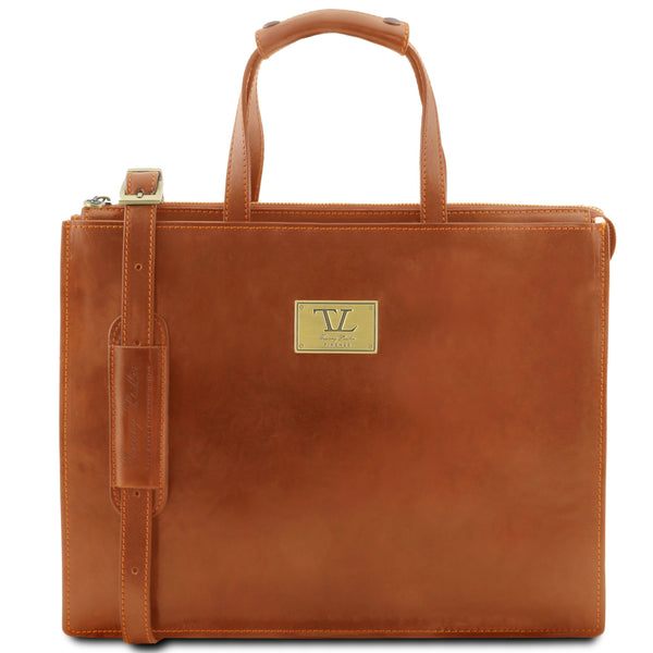 Tuscany Leather 1st Class 'Palermo' Leather Briefcase Laptop Briefcase Tuscany Leather Honey
