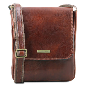 Tuscany Leather 1st Class 'John' Men's Crossbody Messenger Bag Messenger Bag Tuscany Leather Brown