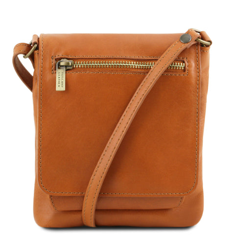 Tuscany Leather Classic 'Sasha' Soft Leather Crossbody Bag Crossbody Bag Tuscany Leather Cognac